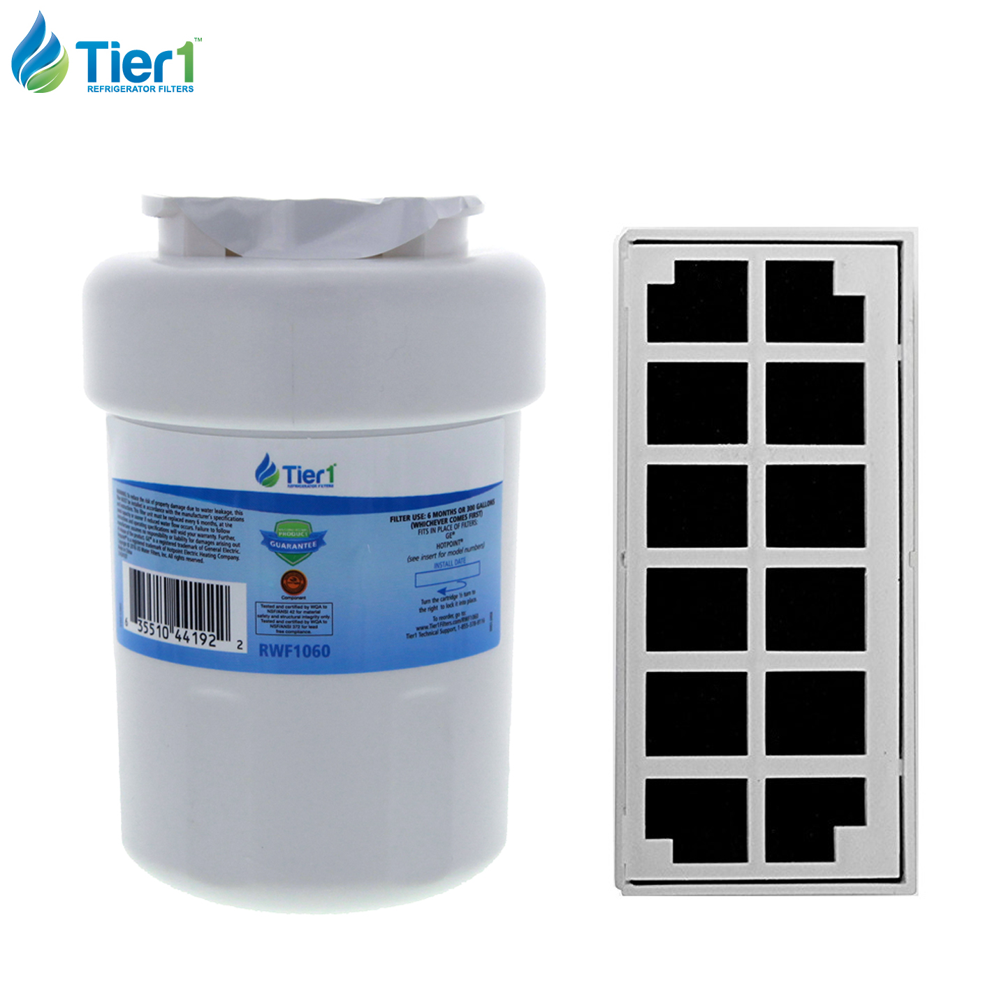 GE MWF Comparable Refrigerator Water & Odor Air Filter Combo by Tier1 TIER1_RWF1060_COMBO